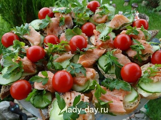 бутерброды из красной рыбы