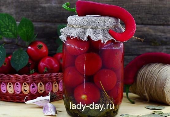 Маринованные помидоры на зиму с кори