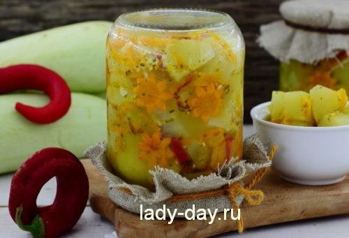 салат на зиму из кабачков и моркови рецепт с фото