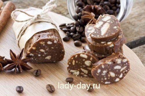шоколадная колбаса по классическому рецепту