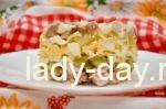 Салат с курицей грибами и огурцом