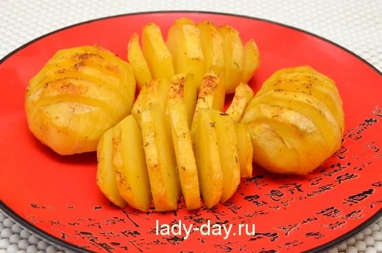 картошка гармошкой