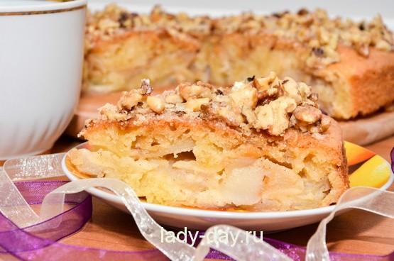 Пирог с яблоками легкий рецепт