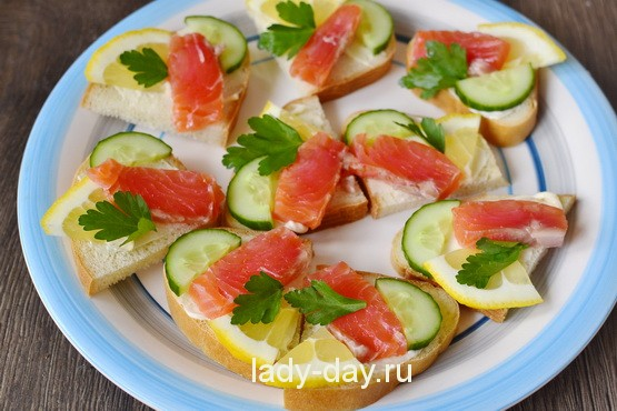 бутерброды с красной рыбой рецепт с фото простой и вкусный