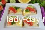 Бутерброды с красной рыбой простой рецепт
