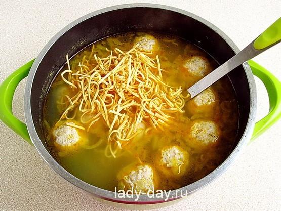 Суп с лапшой 13