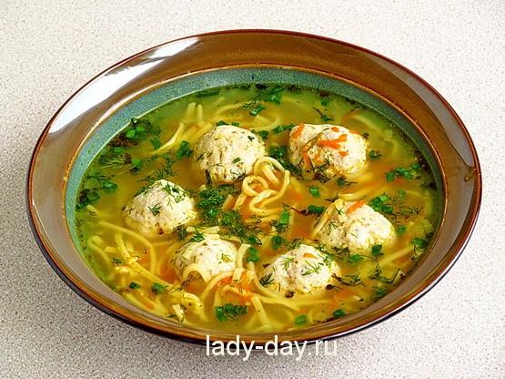 Суп с фрикадельками 15