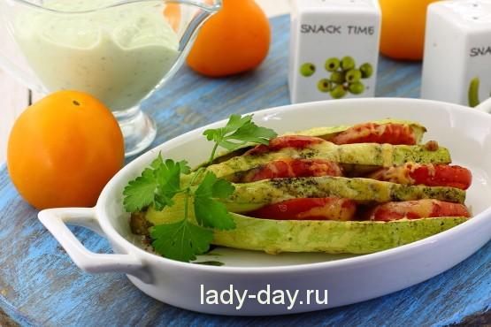 кабачки с помидорами и сыром в духовке рецепт с фото