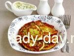 Оладьи из кабачков с соусом