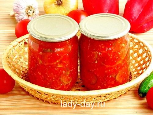 огурцы в помидорах на зиму