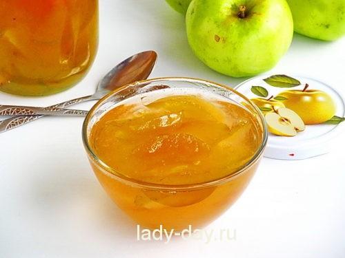 Яблочное варенье прозрачное дольками