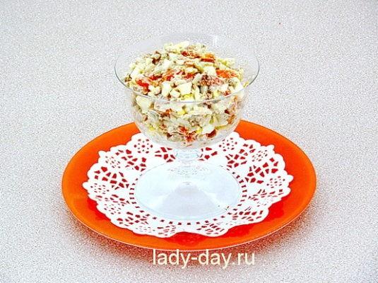 салат из печени трески классический рецепт с яйцом