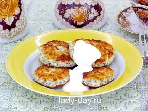 маковые сырники из творога рецепт