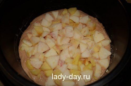 яблоки и тесто