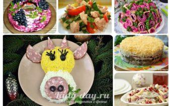 Топ 25 салатов на Новый год