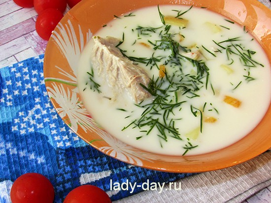 Детский сырный суп