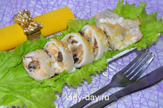 Фаршированные кальмары в духовке, рецепт с фото