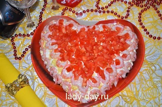 салат с любовью в виде сердца