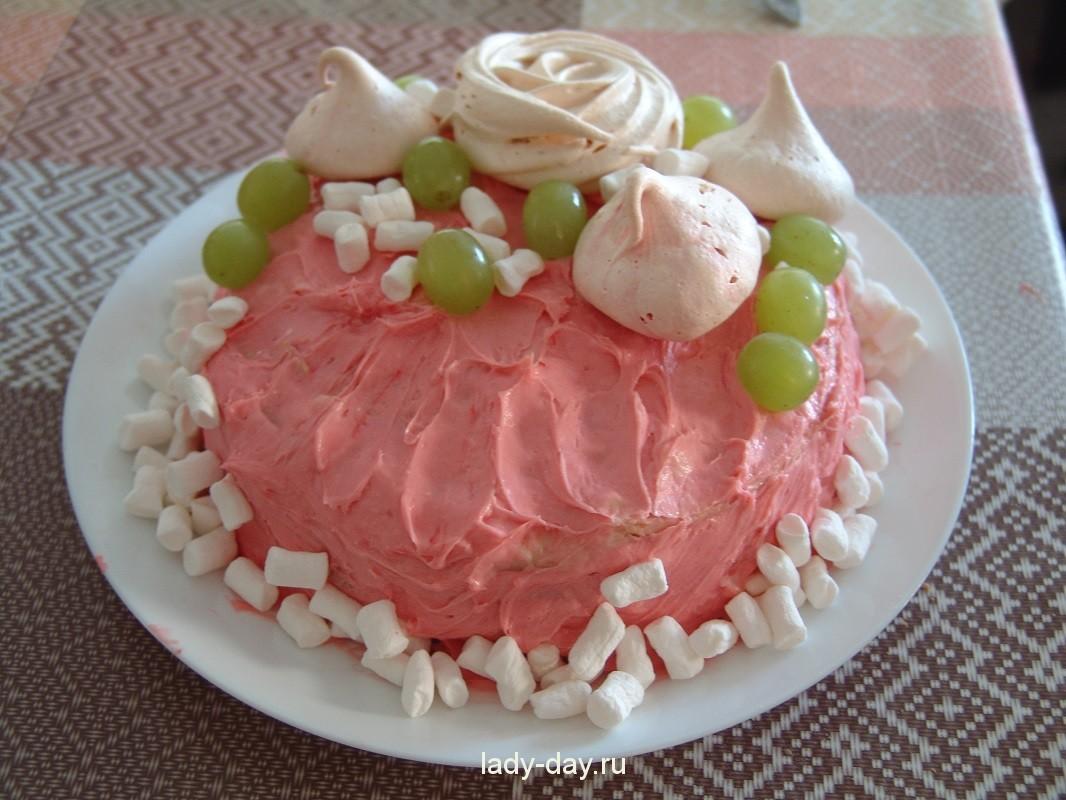 торт Наполеон с вишней