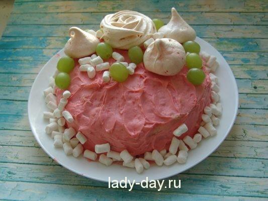торт наполеон с вишней дома