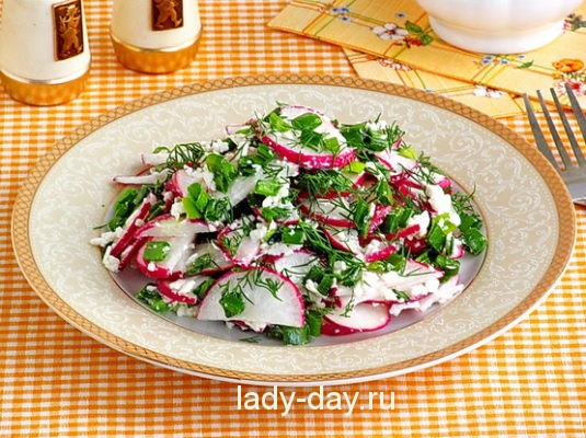 Салат с редиской