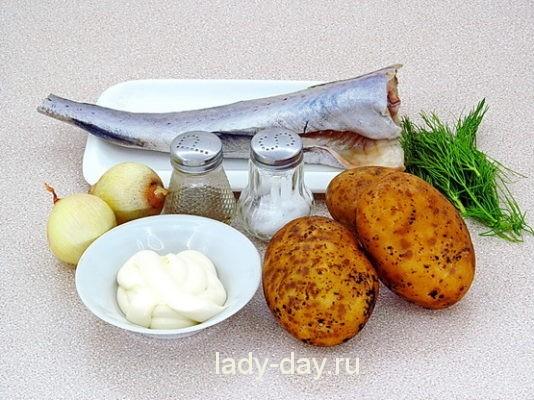 рыба и картофель