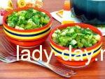 Салат из картофеля с солёными огурцами