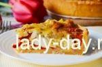 открытый пирог с курицей и сыром рецепт