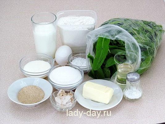 щавель и продукты