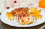 куриные ножки с апельсинами в духовке рецепт с фото