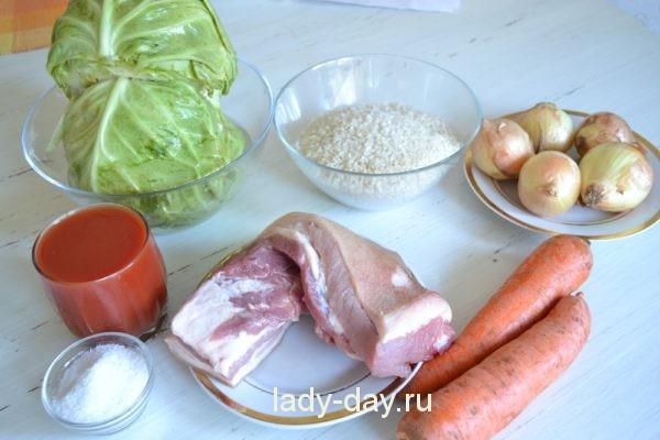 продукты на голубцы