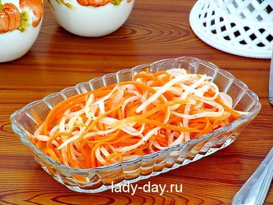 Салат из дайкона, самый вкусный рецепт