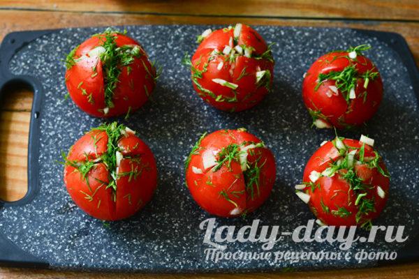 помидоры с начинкой