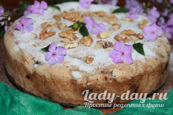 пирог с черникой в духовке