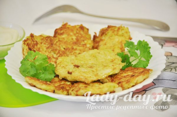 драники с кабачками и картошкой