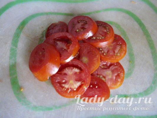 помидор кружочками