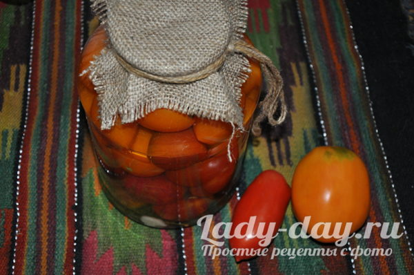 Очень вкусные маринованные помидоры на зиму, сладкие