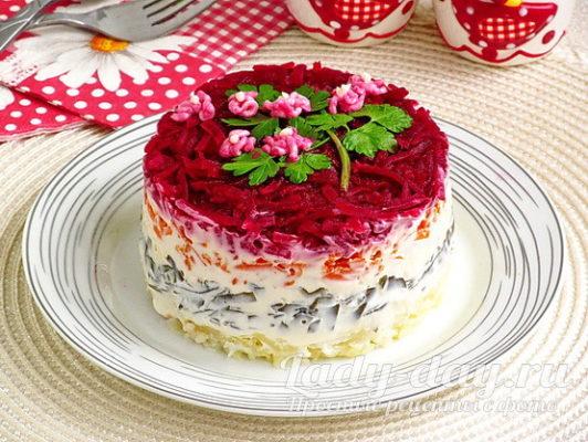 Салат с морской капустой, рецепт с фото очень вкусный