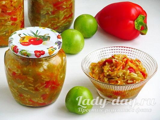 самый простой и вкусный салат с рисом