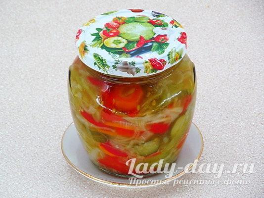укупорить салат на зиму