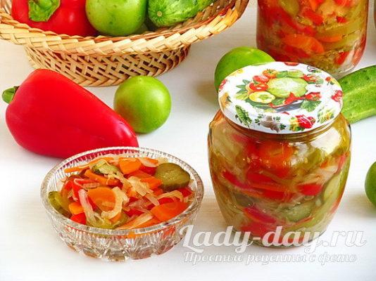 с зелеными помидорами на зиму, рецепт с фото