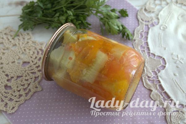 замаринованные кабачки с помидорами