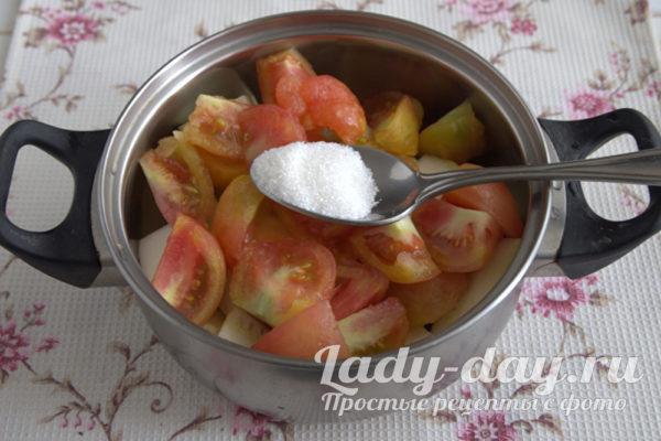 добавление сахара и соли