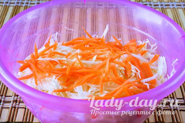 соединить морковь и капусту