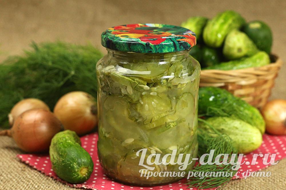 """Салат из огурцов """"Зимний король"""""""