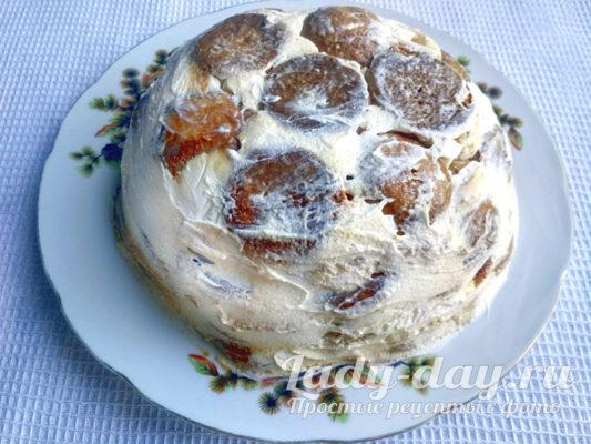Тортик на тарелке