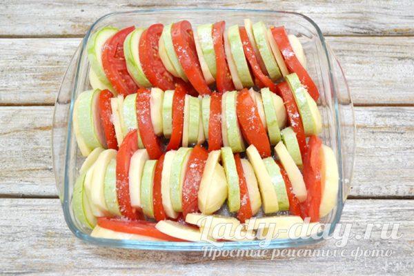 Овощи в форме