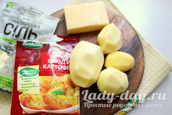 картошка, сыр, специи