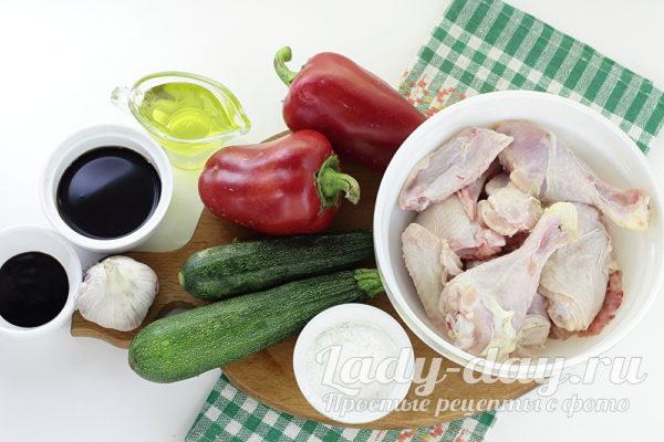 курица и овощи