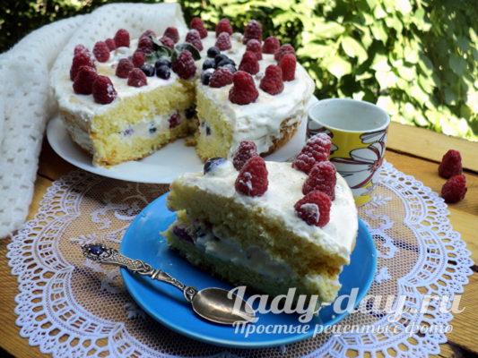торт бисквитный в мультиварке